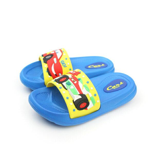閃電麥坤 Cars 迪士尼 Disney 拖鞋 藍 中童 no838