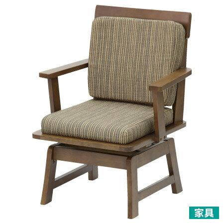 宜得利家居:◎和風天然木可旋轉式餐椅TOKYO2MBR褐色NITORI宜得利家居