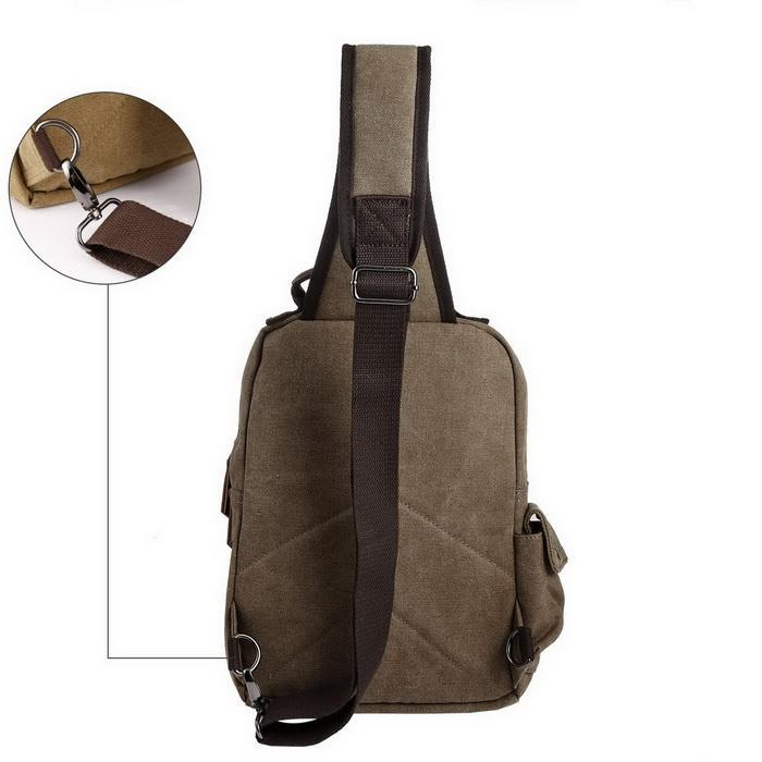 Canvas Unisex Travel Sports Sling Large Outdoor Backpack 0