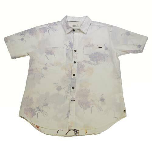 ~ 599  兩件再折 50↘~S M . REEF 熱情夏威夷印花男版襯衫 . 白~全店