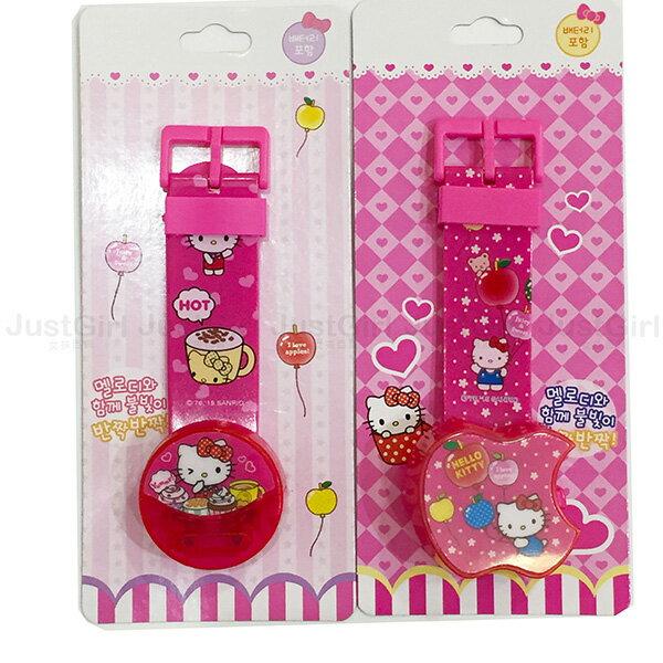 HELLO KITTY 電子錶 手錶 玩具錶 兒童錶 玩具 正版韓國製造進口 * JustGirl *