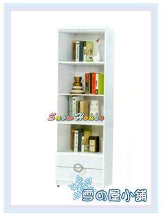 ╭☆雪之屋居家生活館☆╯AA548-04牛津書櫃(白)(2X6尺下二抽)(514)置物櫃收納櫃書架