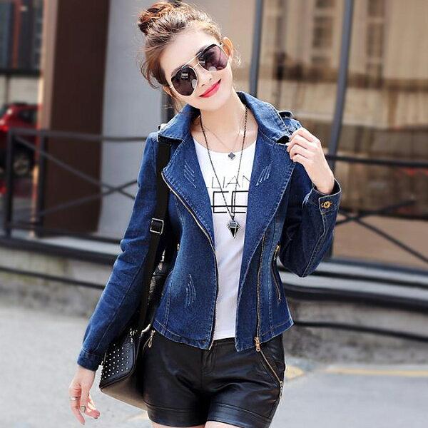 時尚流行韓版 西裝單寧牛仔短款外套  現貨+預購  韓風衣舍