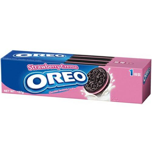 OREO 奧利奧 草莓夾心餅乾 137g