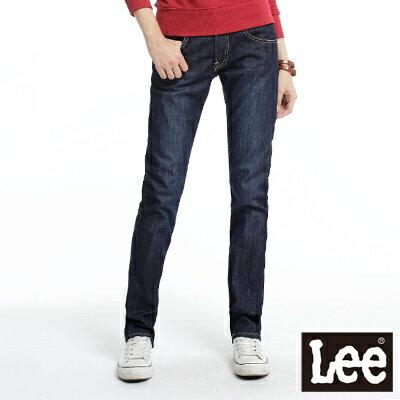LEE 時尚剪裁Melissa 428中腰標準直筒牛仔褲 -女款(深藍)