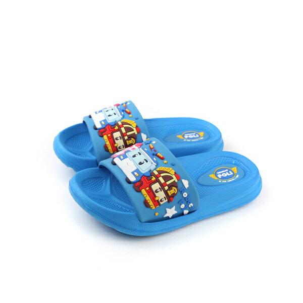 HUMAN PEACE:POLI波力救援小英雄拖鞋藍色中童POKS71026no613