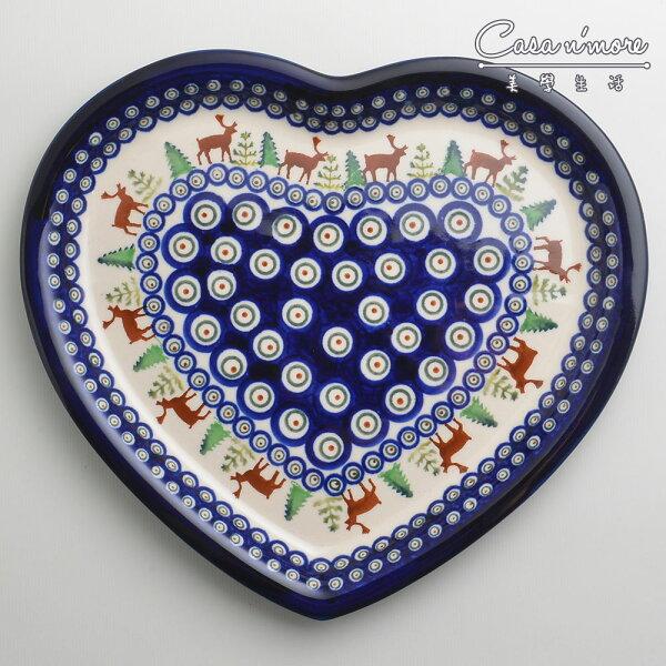 波蘭陶歡樂聖誕系列愛心造型餐盤陶瓷盤菜盤水果盤點心盤波蘭手工製