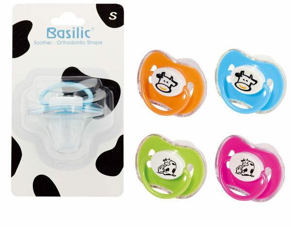 Basilic 貝喜力克 拇指型安撫奶嘴(M / 乳牛)『121婦嬰用品館』 - 限時優惠好康折扣