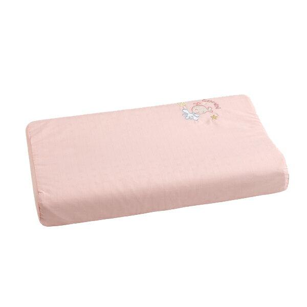 Combi康貝 - 小魚銀纖乳膠嬰兒枕 -粉 (附替換枕套)