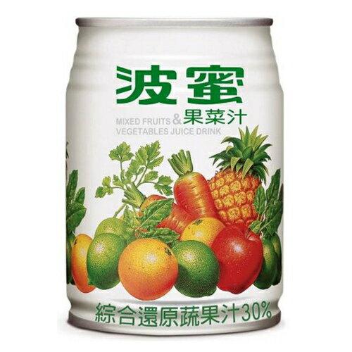 波蜜 果菜汁(易開罐) 240ml (6入)/組