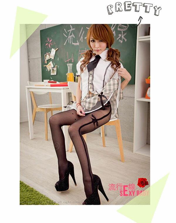 MIT優質材質絲襪透膚開檔褲襪~美腿精緻黑色絲襪~流行E線B8063 4