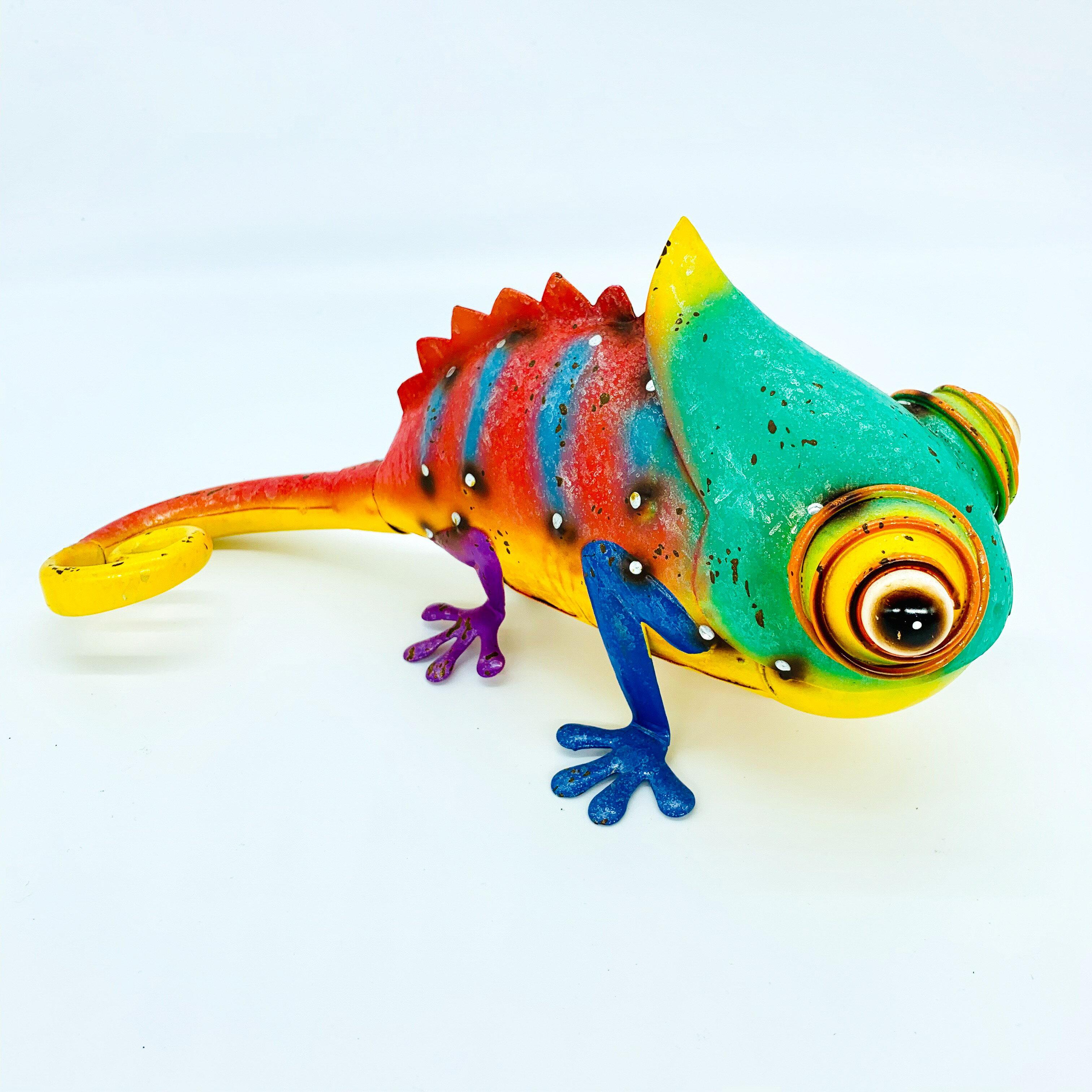 日本高山 絕版品限量供應 動物擺飾 繽紛變色龍 日本直送 日本設計 生鐵手作可愛多采風格擺飾 不會再有 把握機會 1