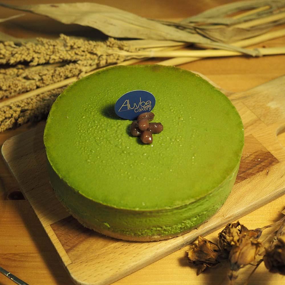 艾樂比 【小山園抹茶重乳酪蛋糕】 6吋 抹茶 重乳酪 小山園 aluvbe