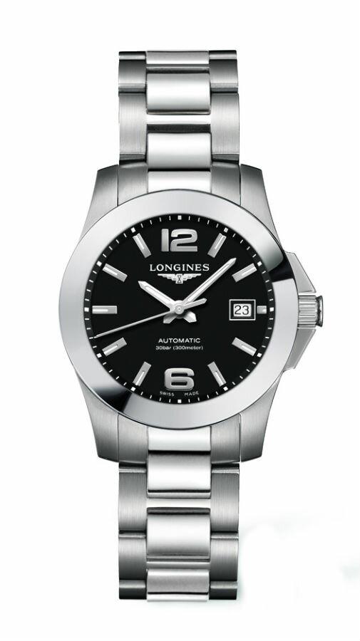 LONGINES L32764586經典征服者潛水機械女錶/黑面29.5mm