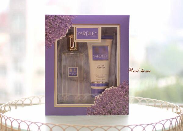 *Realhome* 英國皇室御用品牌YARDLEY 薰衣草限量禮盒 乳液+香水 明星也愛用