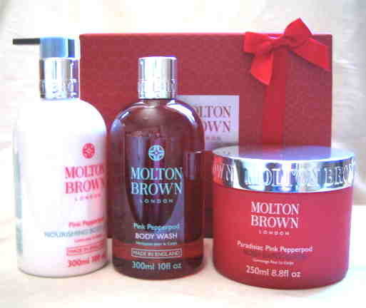 *Realhome* 英國名牌Molton Brown 粉紅黑胡椒豪華保養組* 限量發售 男女送禮皆可 !!