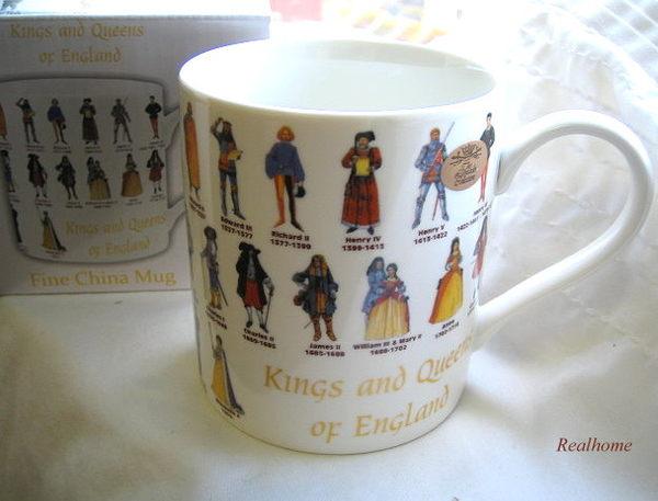 *Realhome* 英國原裝進口 限量女王國王精選 ~骨瓷馬克杯禮盒~ (此為限量發售)