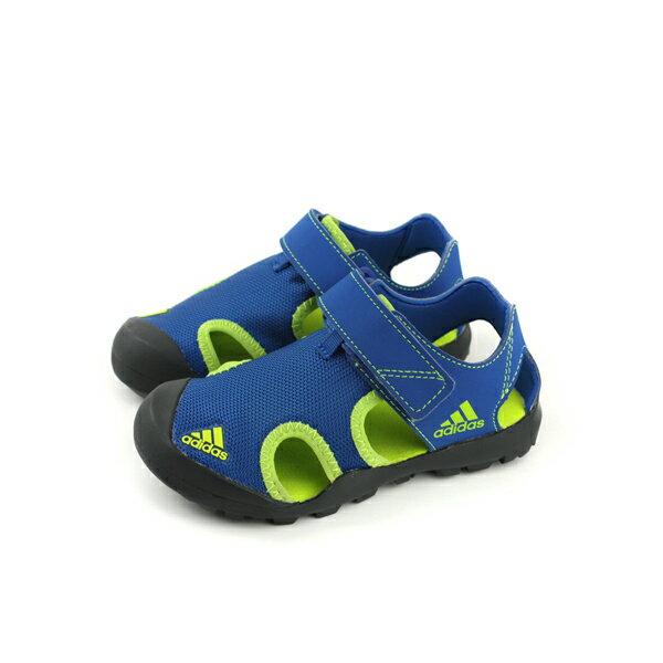 adidasCAPTAINTOEYK涼鞋運動鞋藍色童鞋CM7639no554