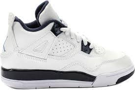 NIKE AIR JORDAN 4 RETRO LS BP 白 藍 童鞋 US 1~1.5 707430-107 J倉