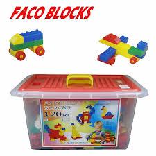 【FACO BLOCKS】快樂堆高120pcs積木組 (含扣整理箱)