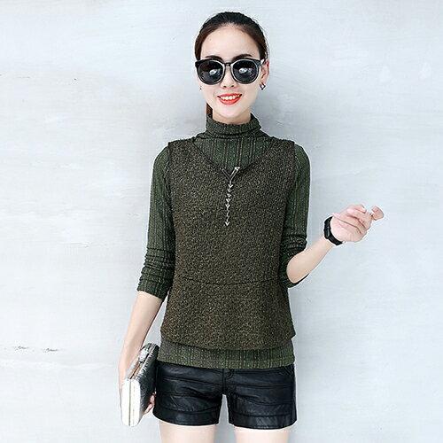 韓版寬鬆長袖針織T恤衫(3色S~2XL) 【OREAD】 2