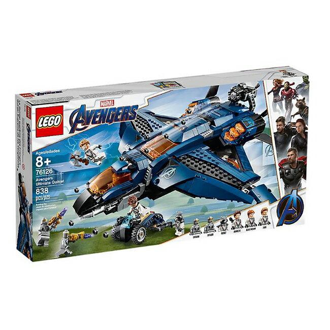 76126【LEGO 樂高積木】超級英雄 Super Heroes 系列 -Avengers Ultimate Quinjet(838pcs)