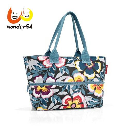 reisenthel可擴充時尚購物袋-藍色印花