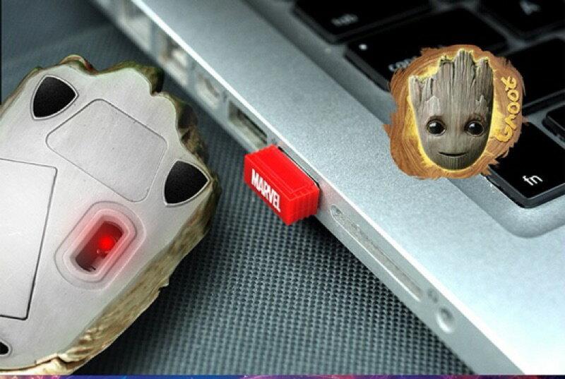 漫威 正版 無線滑鼠 ️ 樹人格魯特 漫威 復仇者聯盟