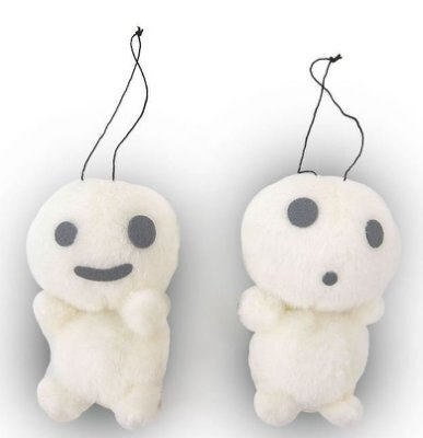 7100500067 樹精拉震鈴噹娃-微笑   樹精 宮崎駿 魔法公主 鑰匙圈 吊飾 娃娃 玩偶 收藏 真愛日本