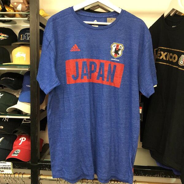 BEETLEADIDASJAPANJFA日本足球協會藍色紅短TEEB214ASXLNT-193