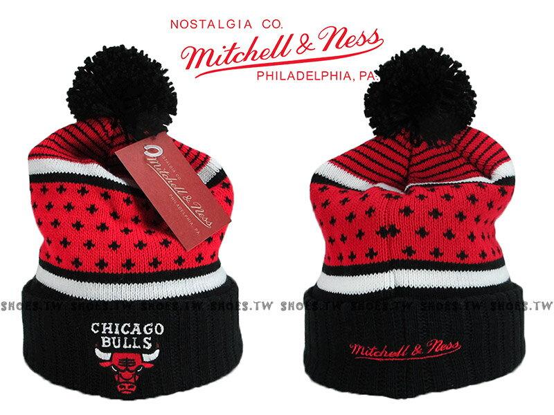 《下殺6折》Shoestw【5056036179529】Mitchell & Ness 毛帽 NBA毛帽 公牛隊 內刷毛 黑紅 0