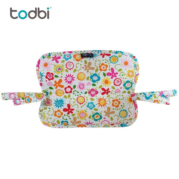 【韓國TODBI】雙面有機棉背巾(花朵 / 淘氣城堡)口水墊-米菲寶貝 2
