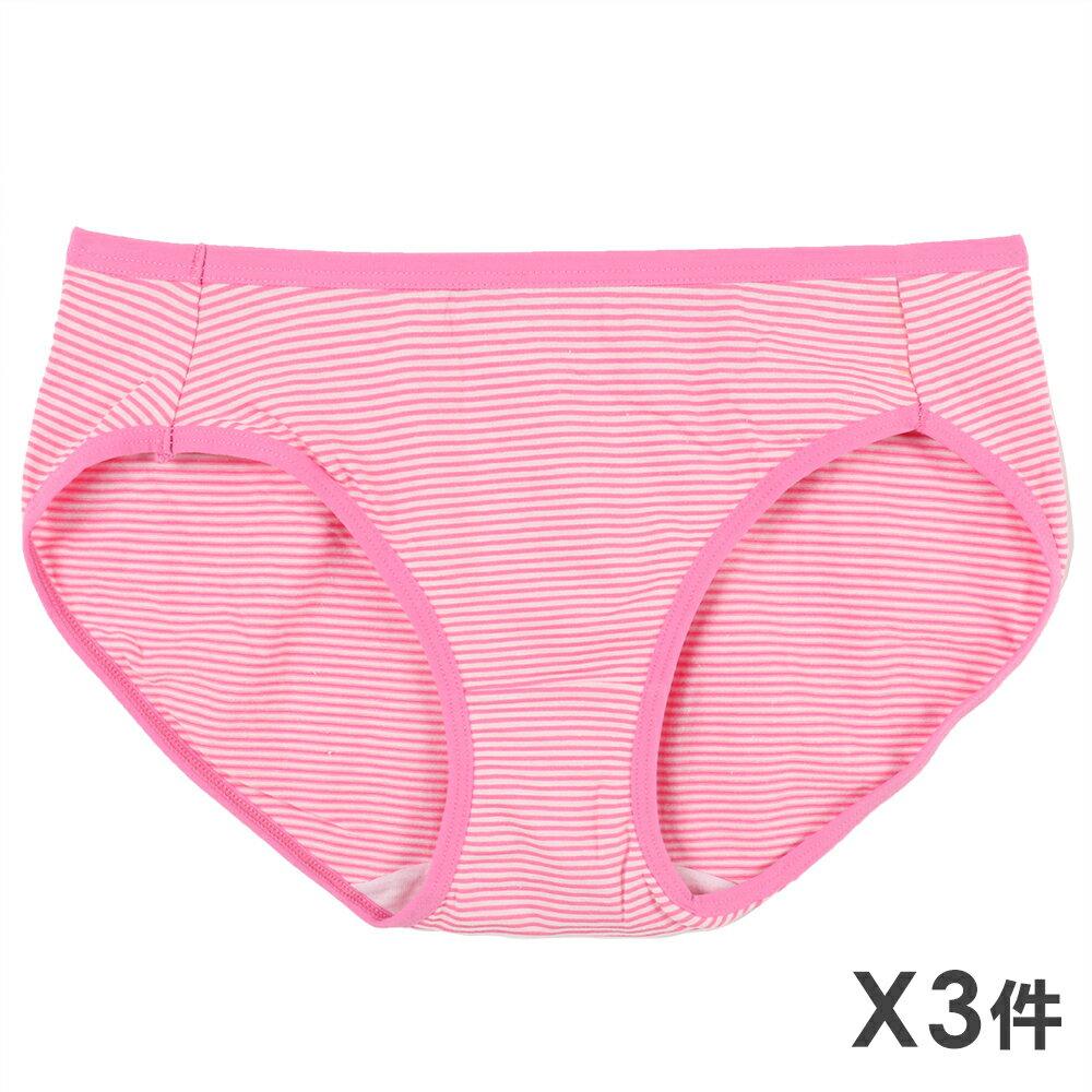 3件199免運【夢蒂兒】條紋中腰三角褲3件組(隨機色) 0