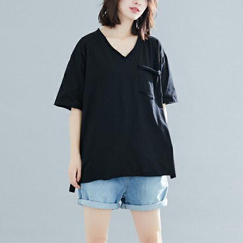 V領T恤寬鬆上衣(4色F碼)【OREAD】 3