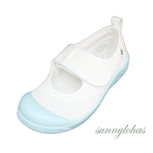 【MOONSTAR月星】兒童室內鞋日本製防滑魔鬼氈-MSCN029藍[陽光樂活]