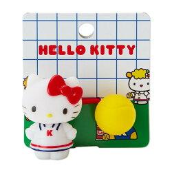 三麗鷗 KITTY 網球造型髮束 髮飾 日貨 正版授權L00010299