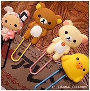 =優生活=韓國文具 拉拉熊 憂傷馬戲團 兔子 懶懶熊迴紋針書籤 文具用品