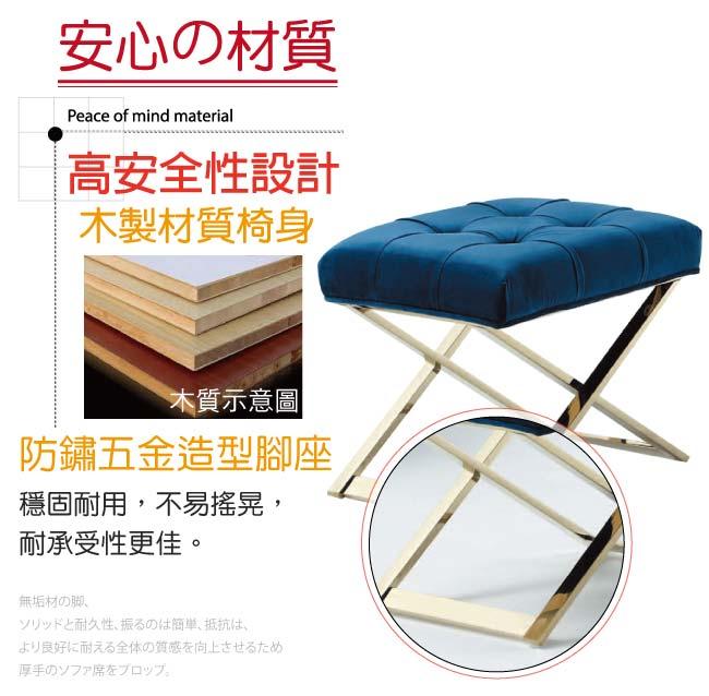 【綠家居】派亞 奢華風1.5尺亞麻布化妝椅(二色可選)
