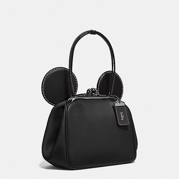 艾莉波波 【DISNEY X COACH】MICKEY KISSLOCK 棒球手套鞣製皮革手袋 3色 少量現貨 精品 代購 6