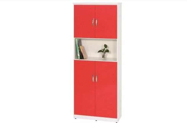 【石川家居】892-03(紅白色)鞋櫃(CT-332)#訂製預購款式#環保塑鋼P無毒防霉易清潔