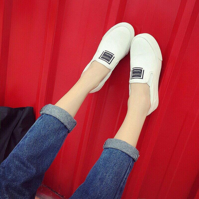 Damita 內增高帆布休閒懶人鞋   2色   現 預 ~版型偏小~
