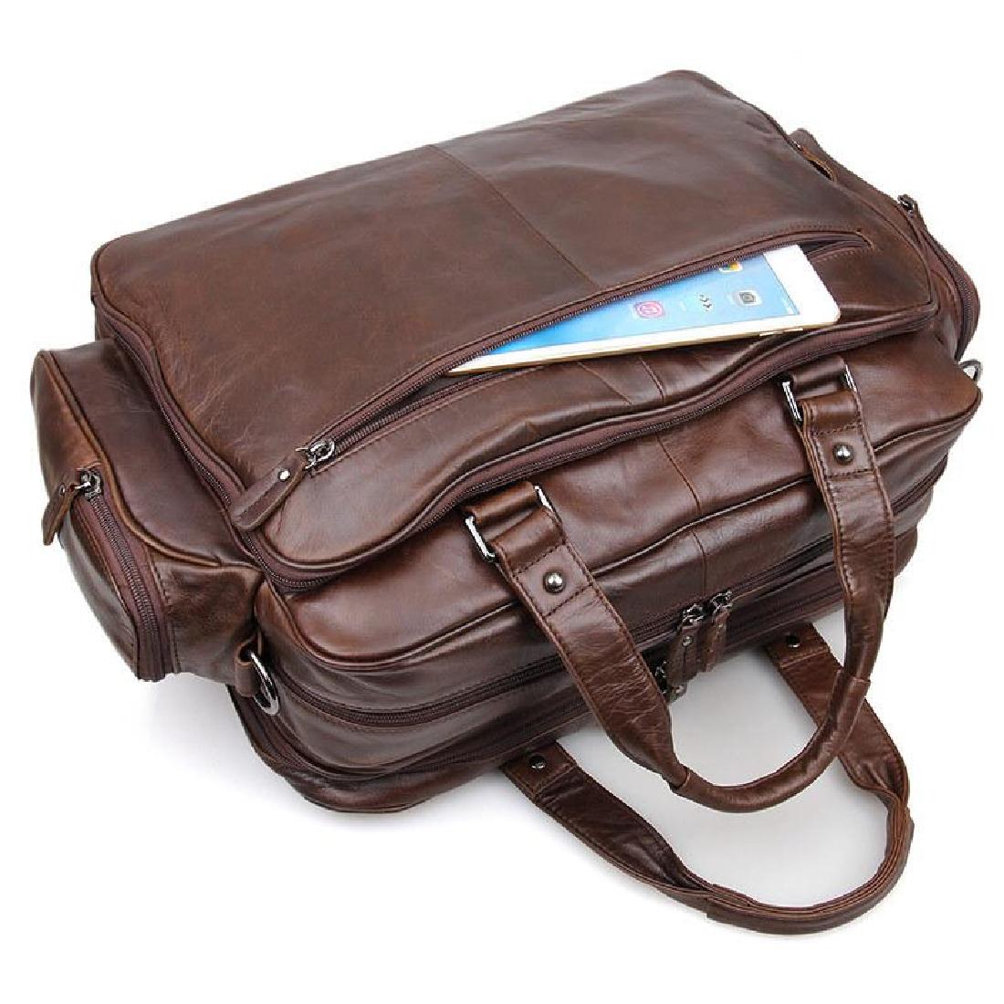 77e30ebe09b2 Bag Leather Real Briefcase Messenger Laptop Vintage Satchel 16 Men Shoulder  S Brown New Business Handmade Genuine Large Men business bags