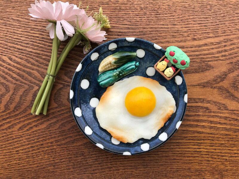 小糖瓷⎥日本製 超輕量點點陶味道點心盤 3