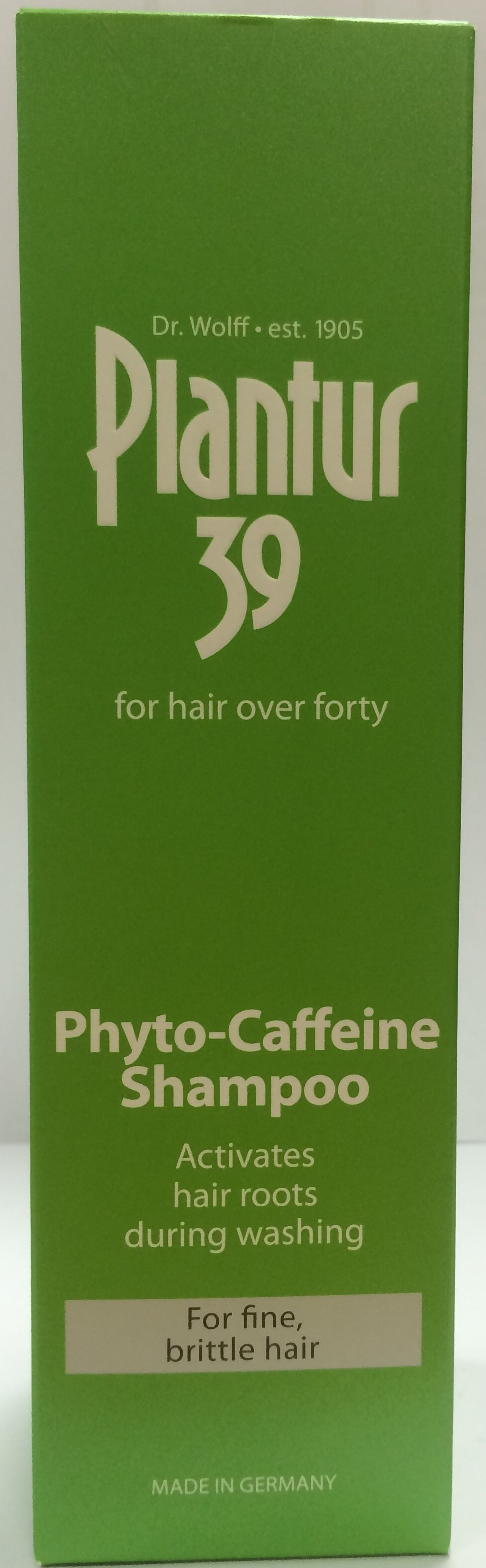 Plantur 39植物與咖啡因洗髮露-細軟及脆弱髮質250ml【屈臣氏】