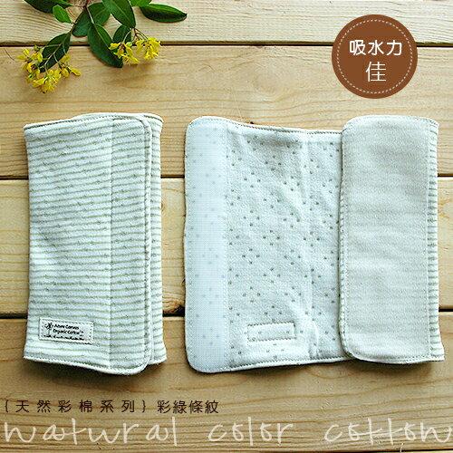 【大成婦嬰】藍天畫布-100%有機棉 (天然彩棉) 嬰幼兒揹袋口水巾(2入/組) 無染色無漂白 台灣製造 1
