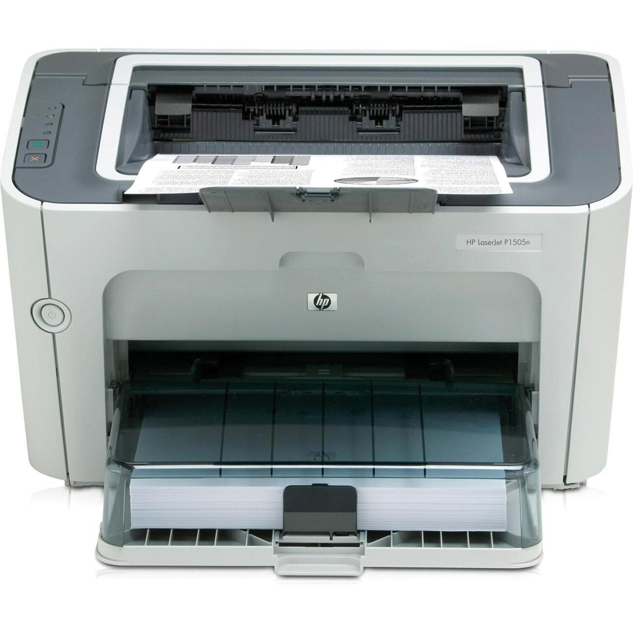 HP LaserJet P1500 P1505N Laser Printer - Monochrome - 600 x 600 dpi Print - Plain Paper Print - Desktop - 23 ppm Mono Print - A4, A5, A6, B5, C5 Envelope, DL Envelope, B5 Envelope, Custom Size - 260 sheets Standard Input Capacity - 8000 Duty Cycle - Manua 0