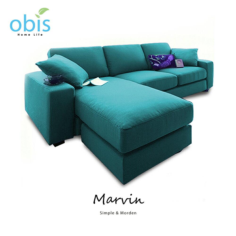 MARVIN 自然風獨立筒L型布沙發【obis】好窩生活節 2