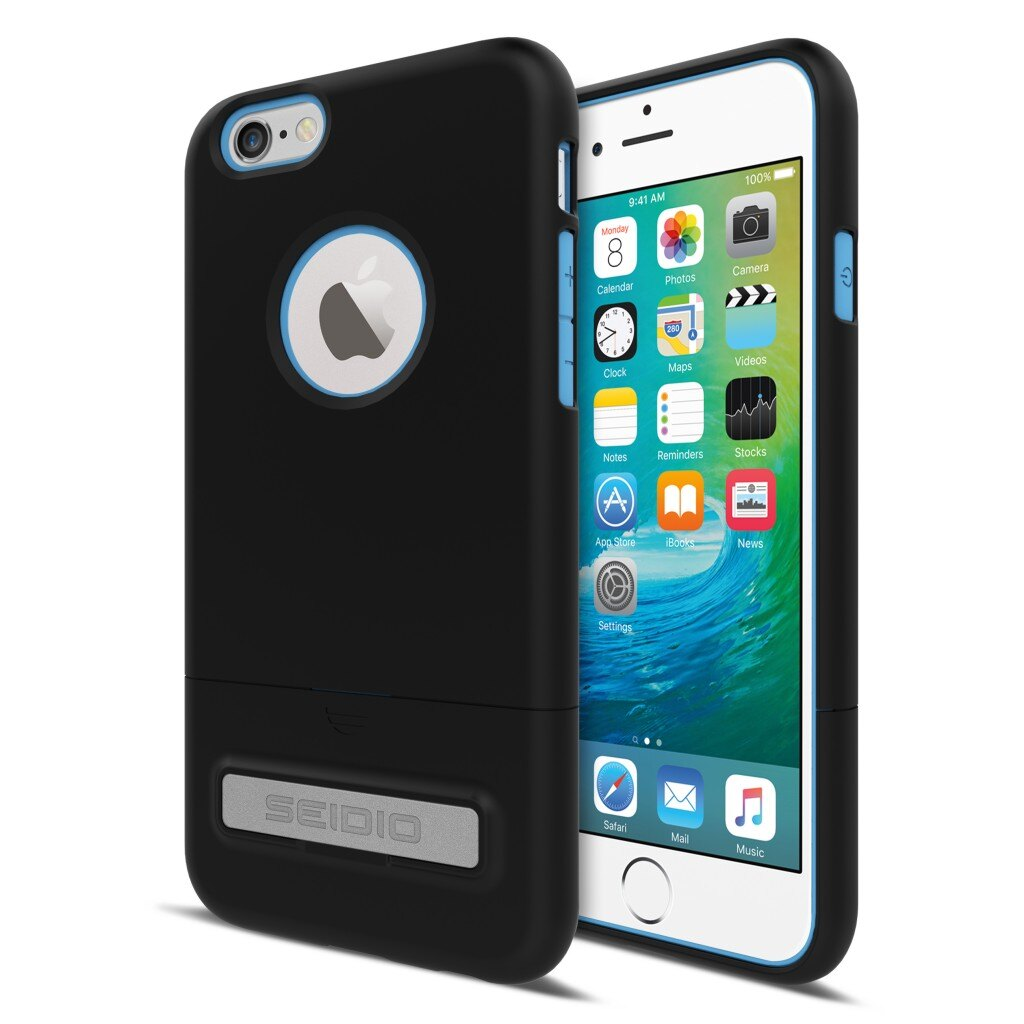 New SURFACE™ 都會時尚雙色保護殼 for iPhone 6 Plus / 6S Plus - 鐵漢黑