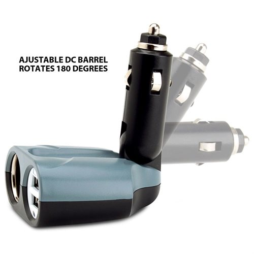 PowerUP 3P Car Charger & DC Adapter w/ DC Outlet for Charging the Samsung Galaxy S4 , Note 3 & More 3