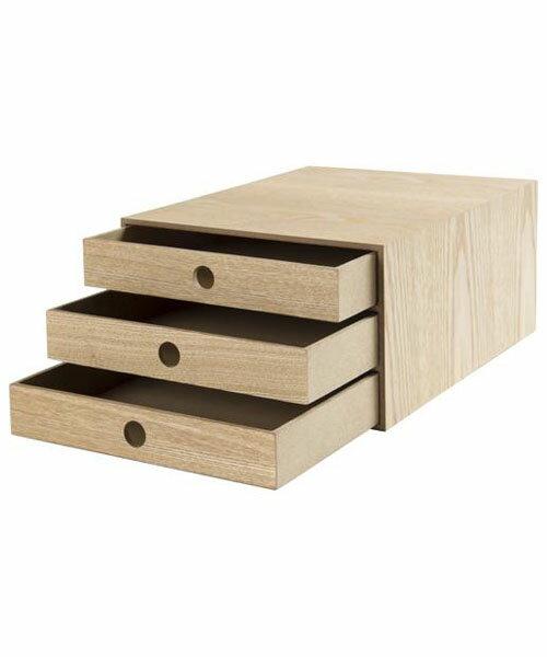 A4抽屜收納盒 NATURAL WOOD NA 3層 NITORI宜得利家居 1